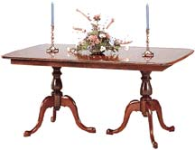 solid cherry pedestal table